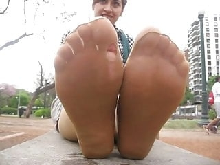 stinky tan pantyhose feet after work!