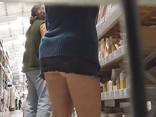 Wife upskirted in diy shop