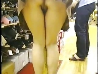 Shopping For Shoes Without Any Panties