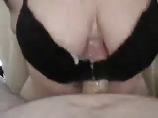 milking a young cock with my tits. Geiler TG Tittenfick